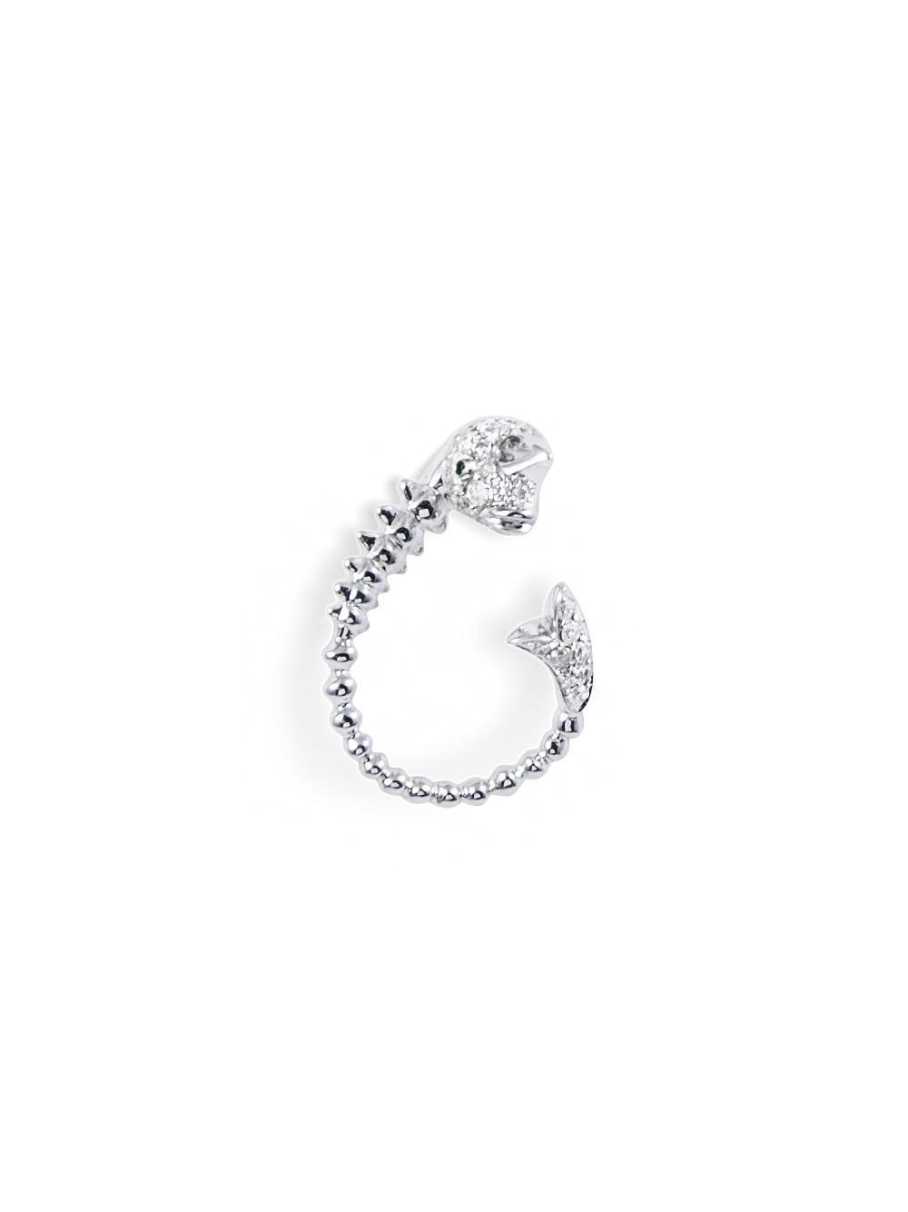 Yvonne Léon puce diamond earring - Metallic aEbYR