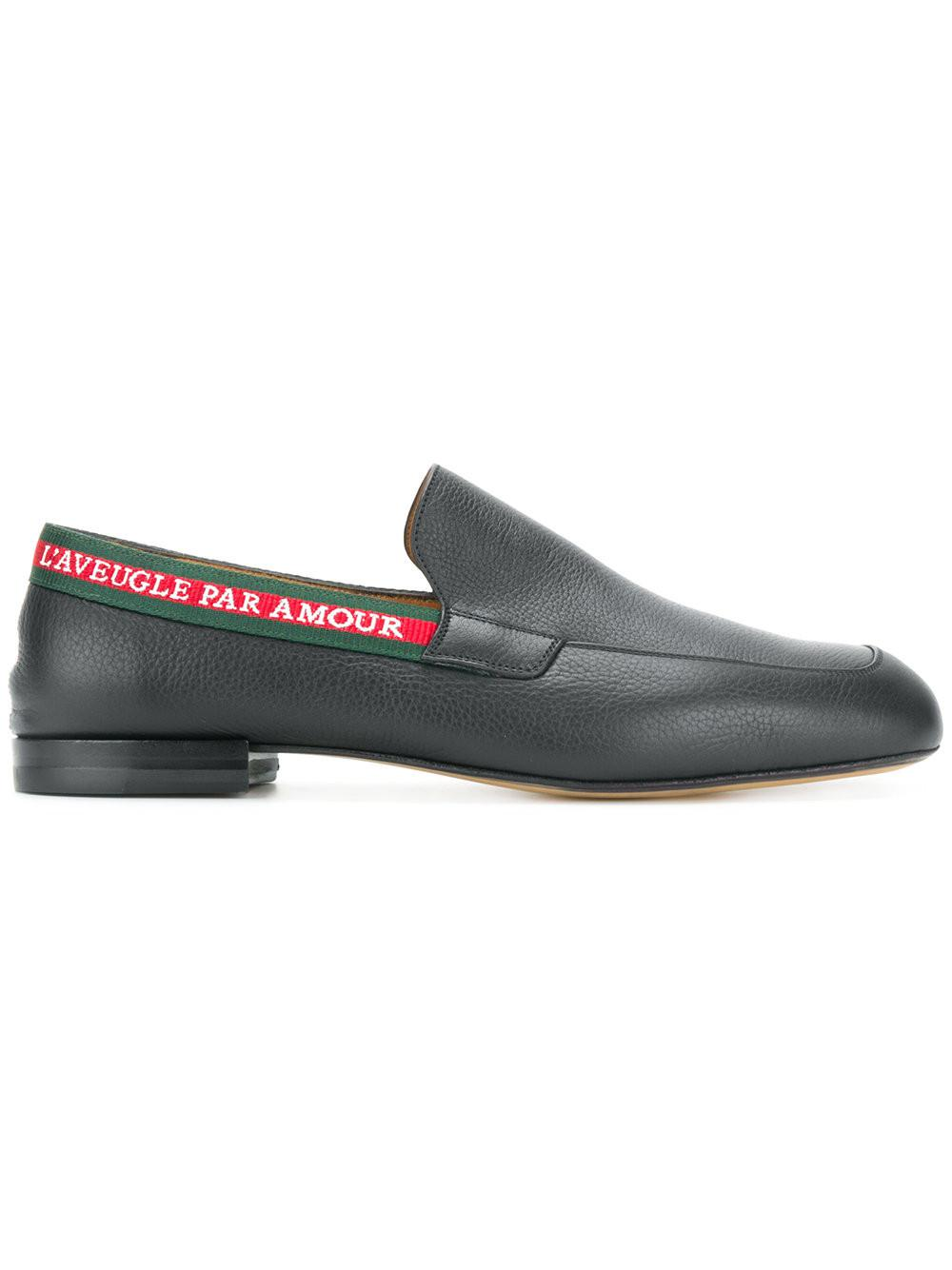 8b71f14c077 Lyst - Gucci L aveugle Par Amour Loafers for Men