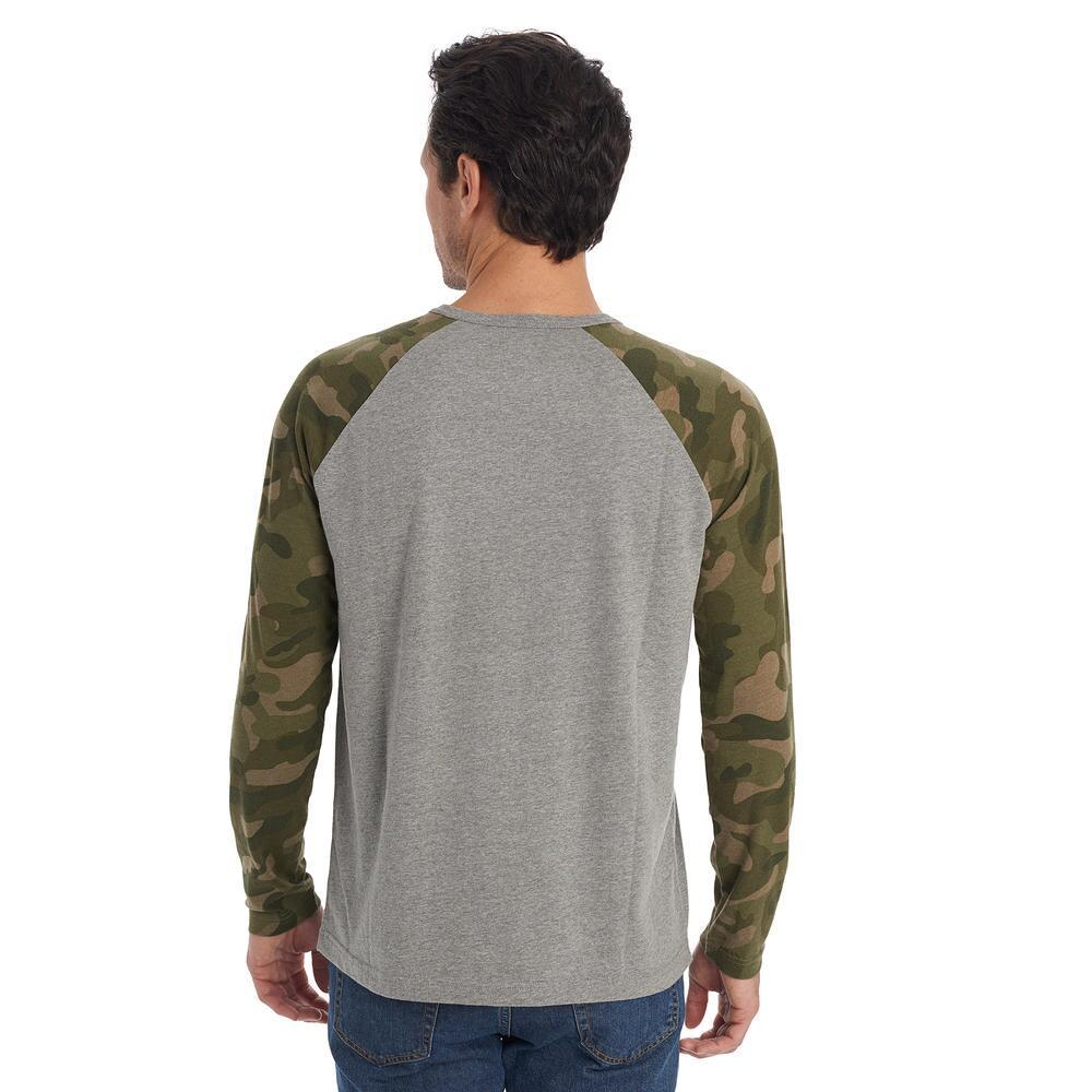 ea65b2db Lyst - G.H.BASS Long Sleeve Colorblock Camo Tee in Green for Men