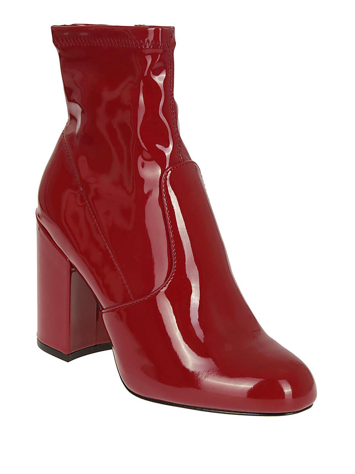 48bcacbd3dd Lyst - Steve Madden Gaze Women s Low Ankle Boots In Red in Red - Save 41%