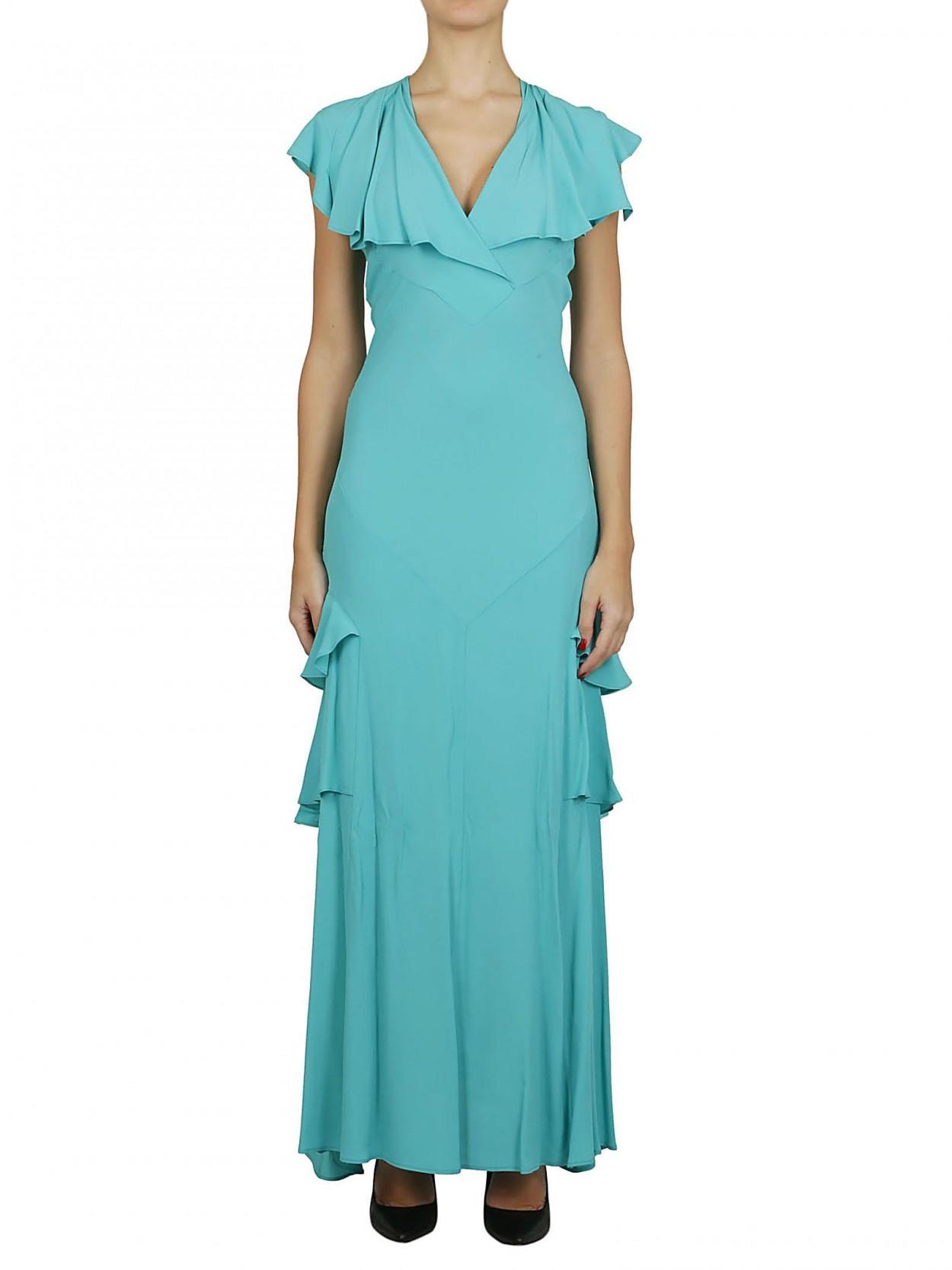 f921f4a03f Erika Cavallini Semi Couture ERIKA CAVALLINI abito lungo tiffany in ...