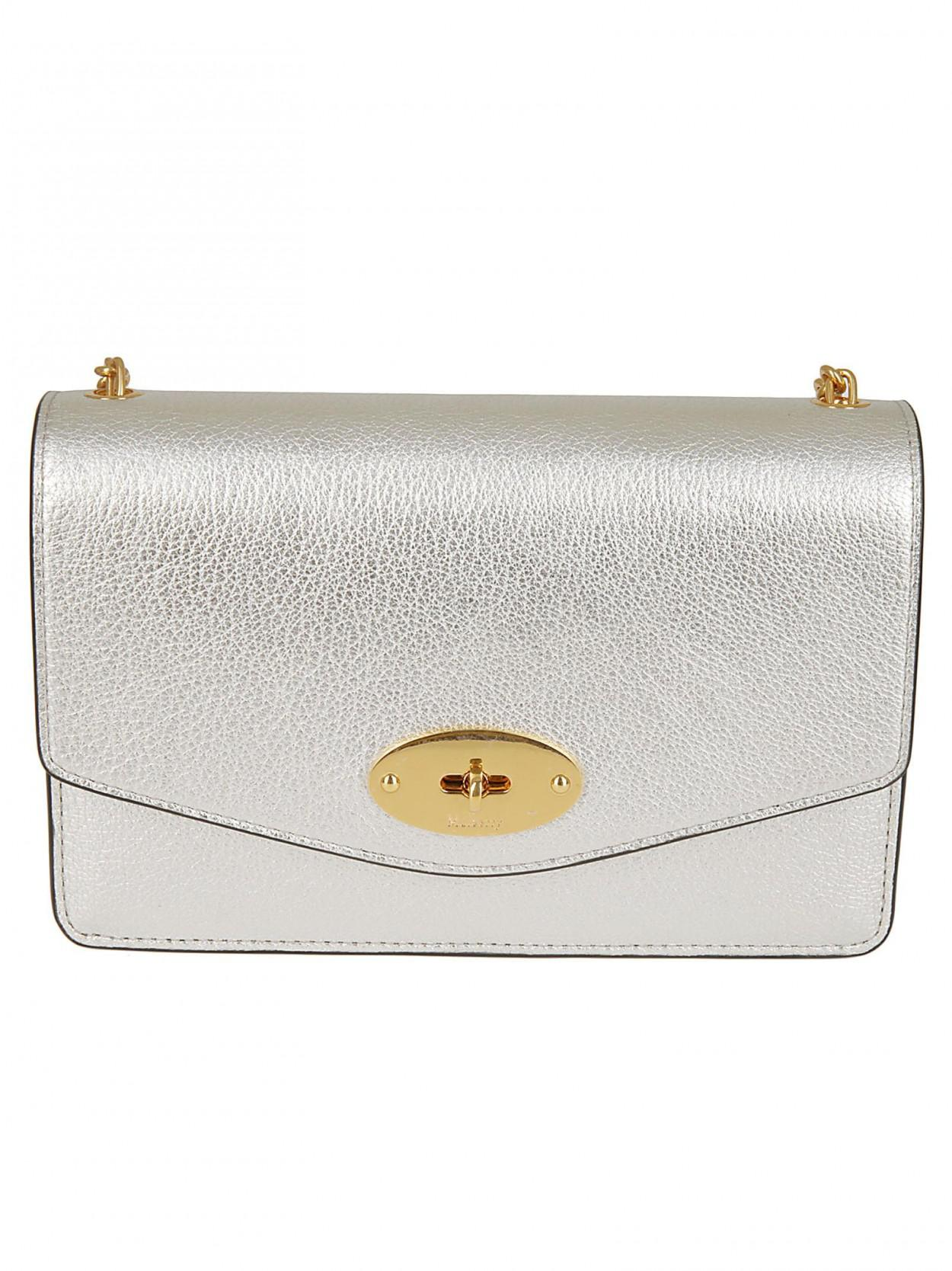 d82259956e32 Mulberry MULBERRY Borsa darley argento in Metallic - Lyst