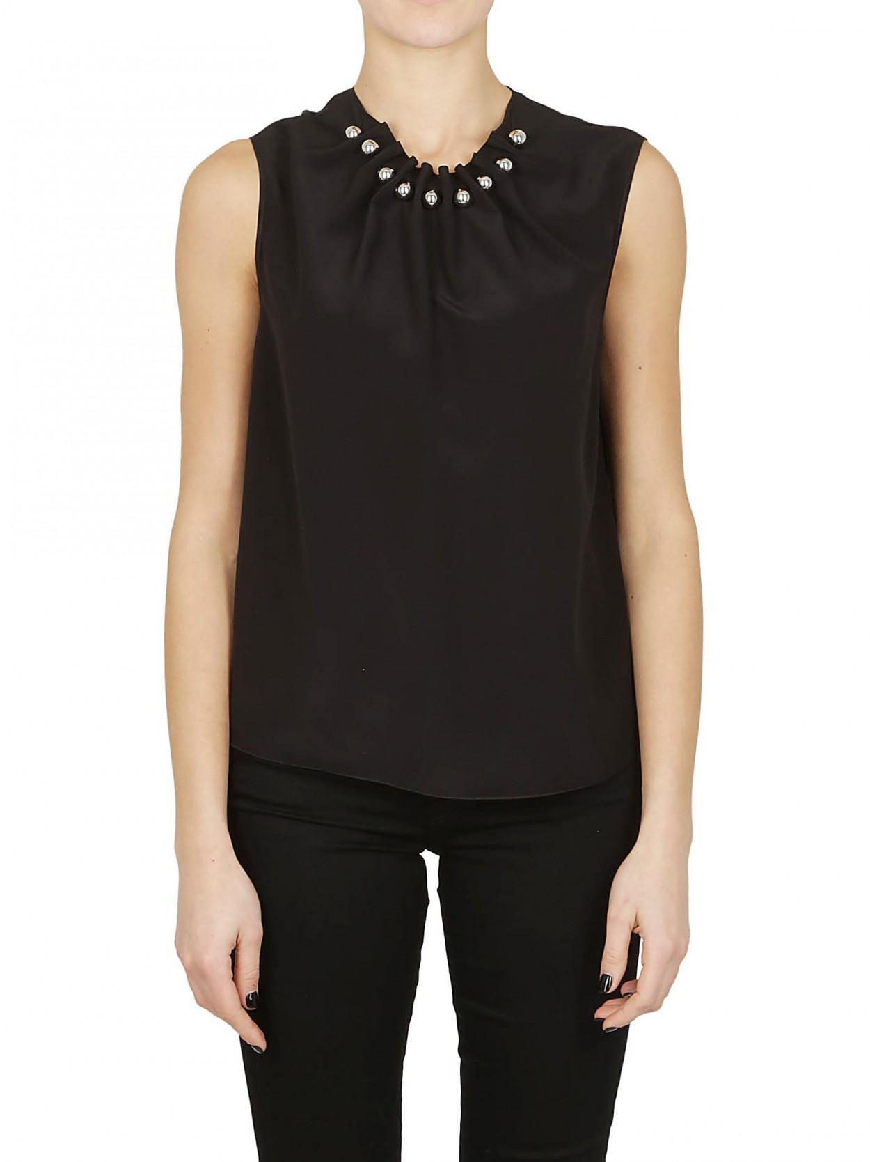 b549bbf2aa Lyst - Boutique Moschino BOUTIQUE MOSCHINO camicia nera sfere acciaio in  Black - Save 23%
