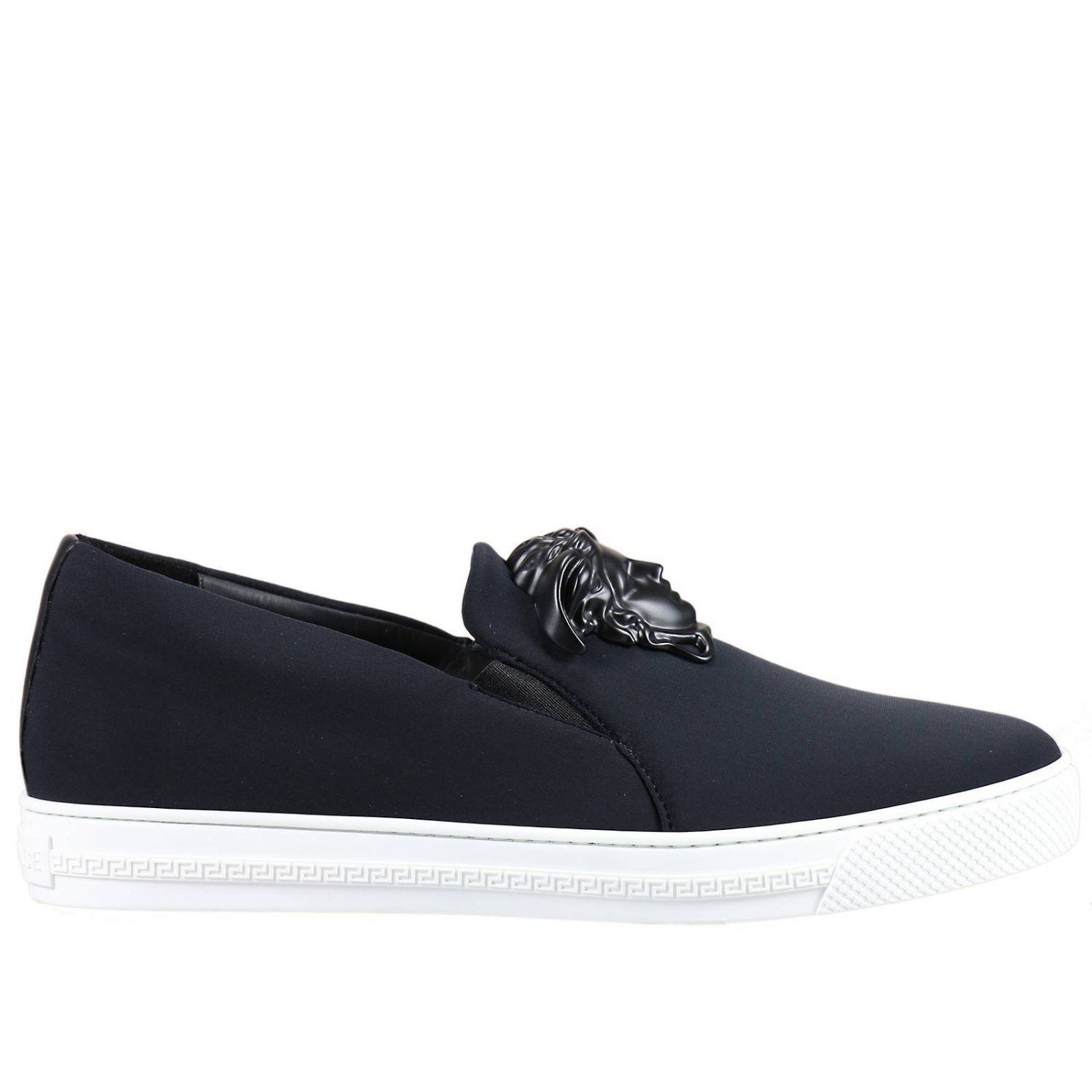 Lyst Versace Sneakers Shoes Man In Black For Men