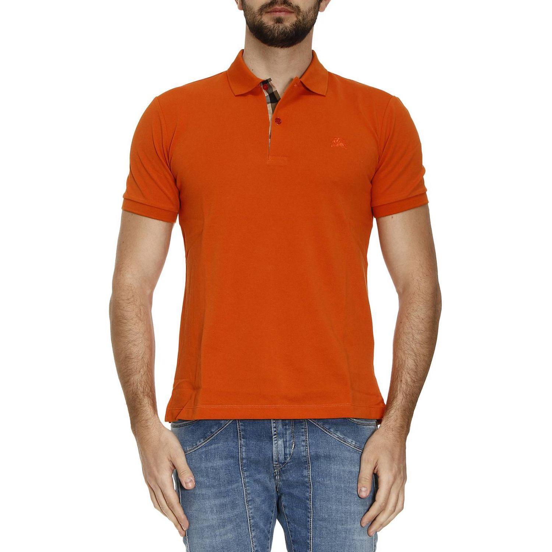 Burberry T-shirt Men In Orange For Men