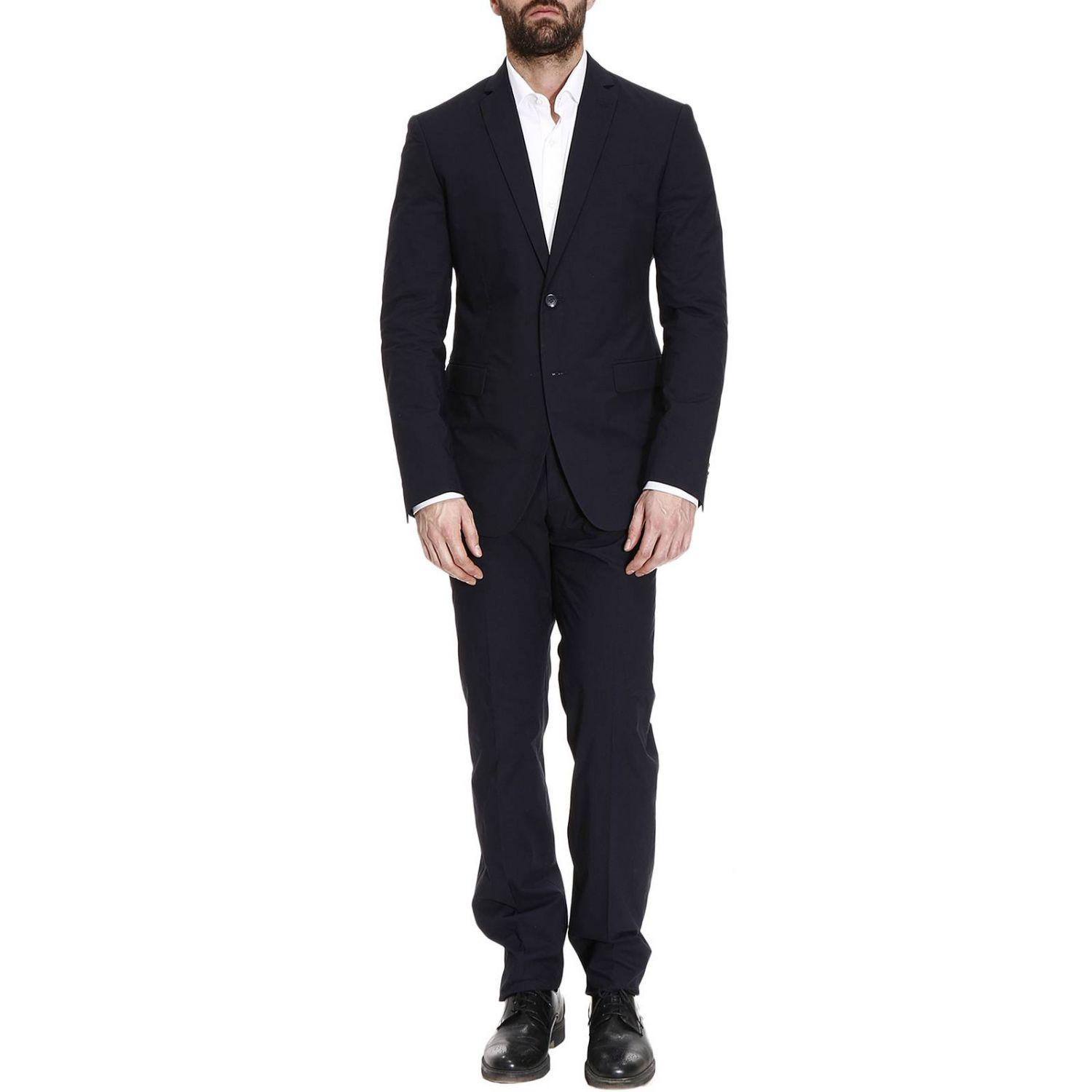 Versace Suits Men In Blue For Men