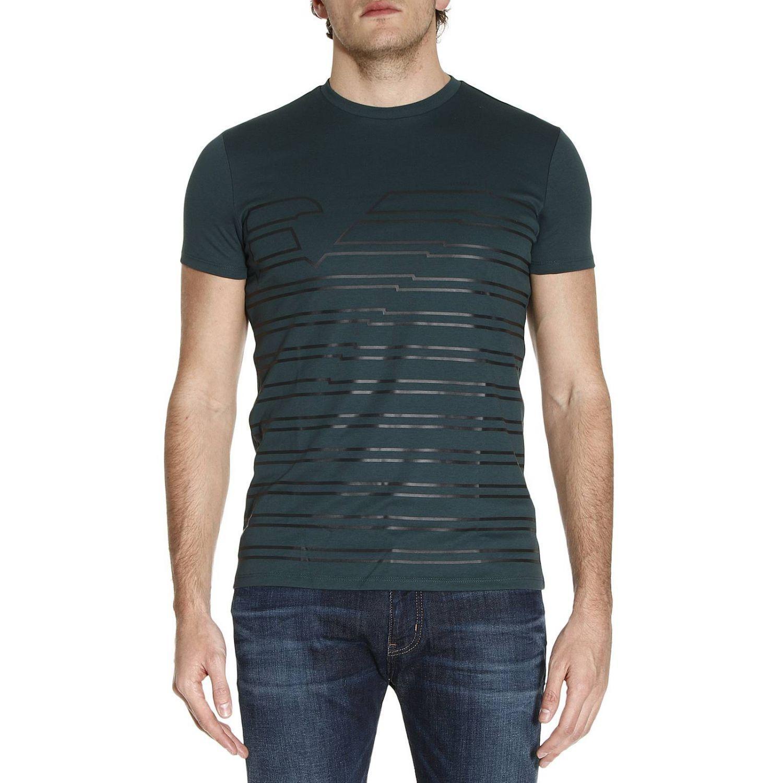 armani jeans t shirt men in green for men lyst. Black Bedroom Furniture Sets. Home Design Ideas