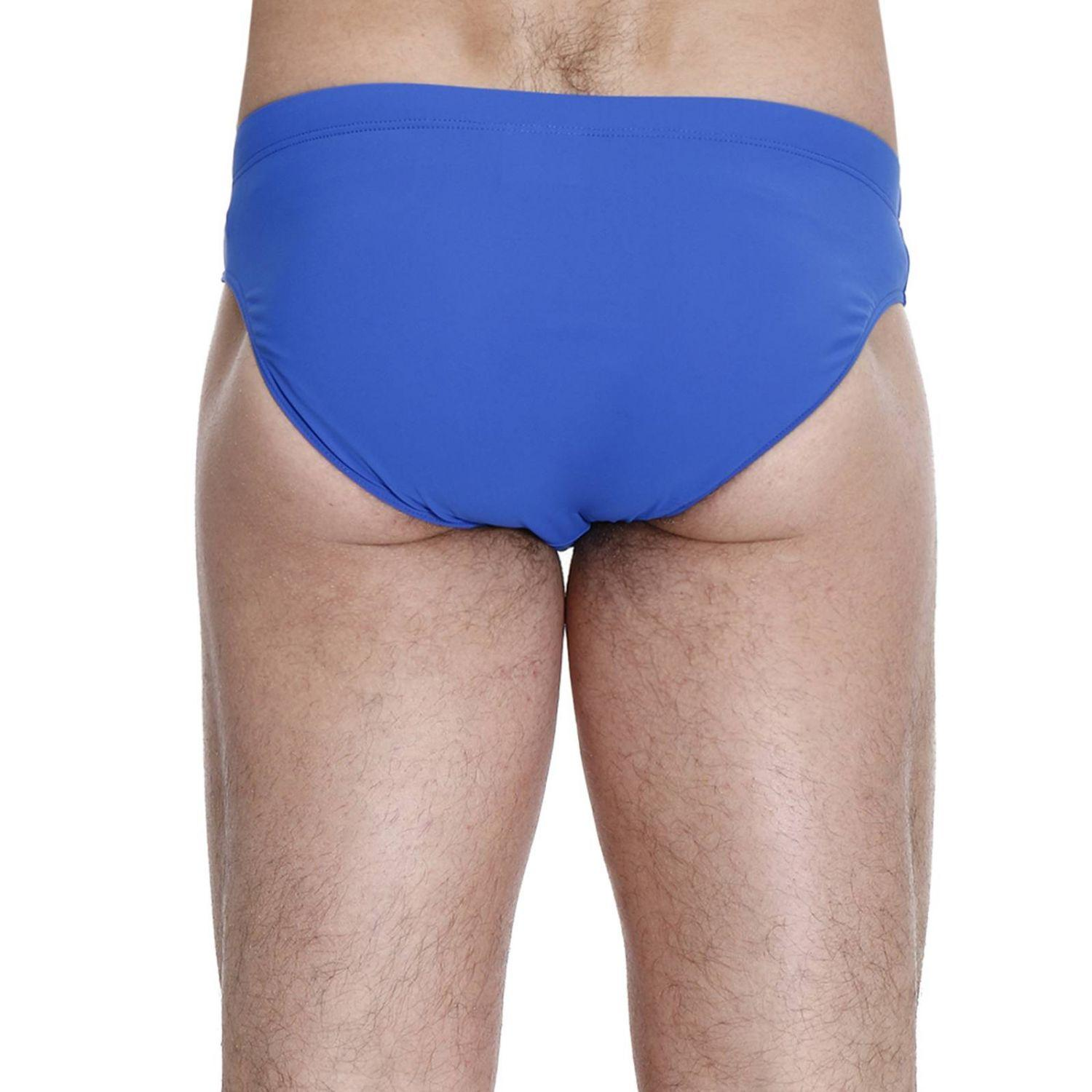 Lyst colmar swimsuit swimwear men in blue for men for Blue piscine colmar