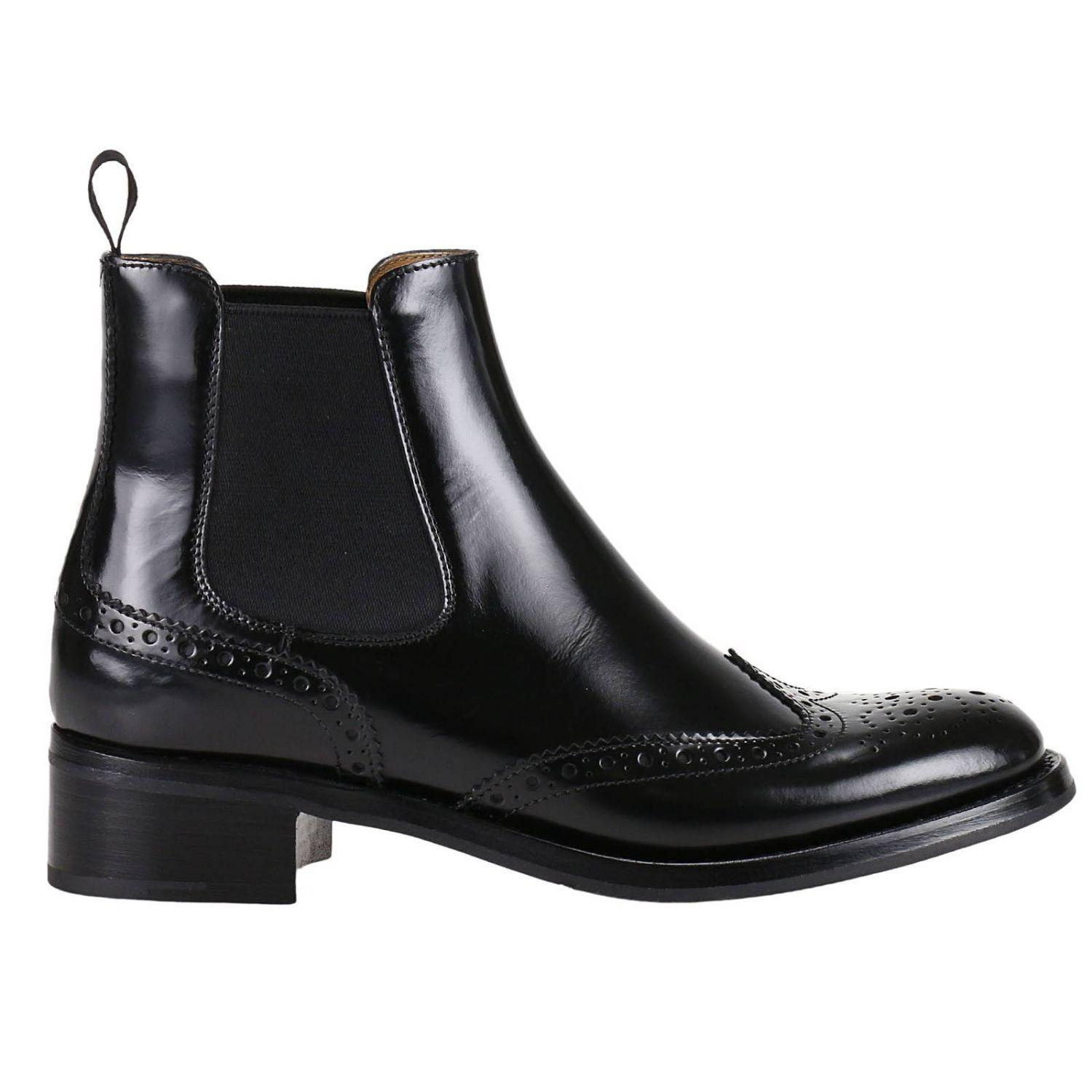Church's 35MM ESTELLA BROGUE LEATHER ANKLE BOOTS tL7P8