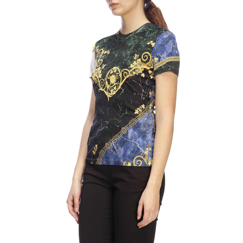 4aa3d384e1a0 Versace - Blue T-shirt Women - Lyst. View fullscreen