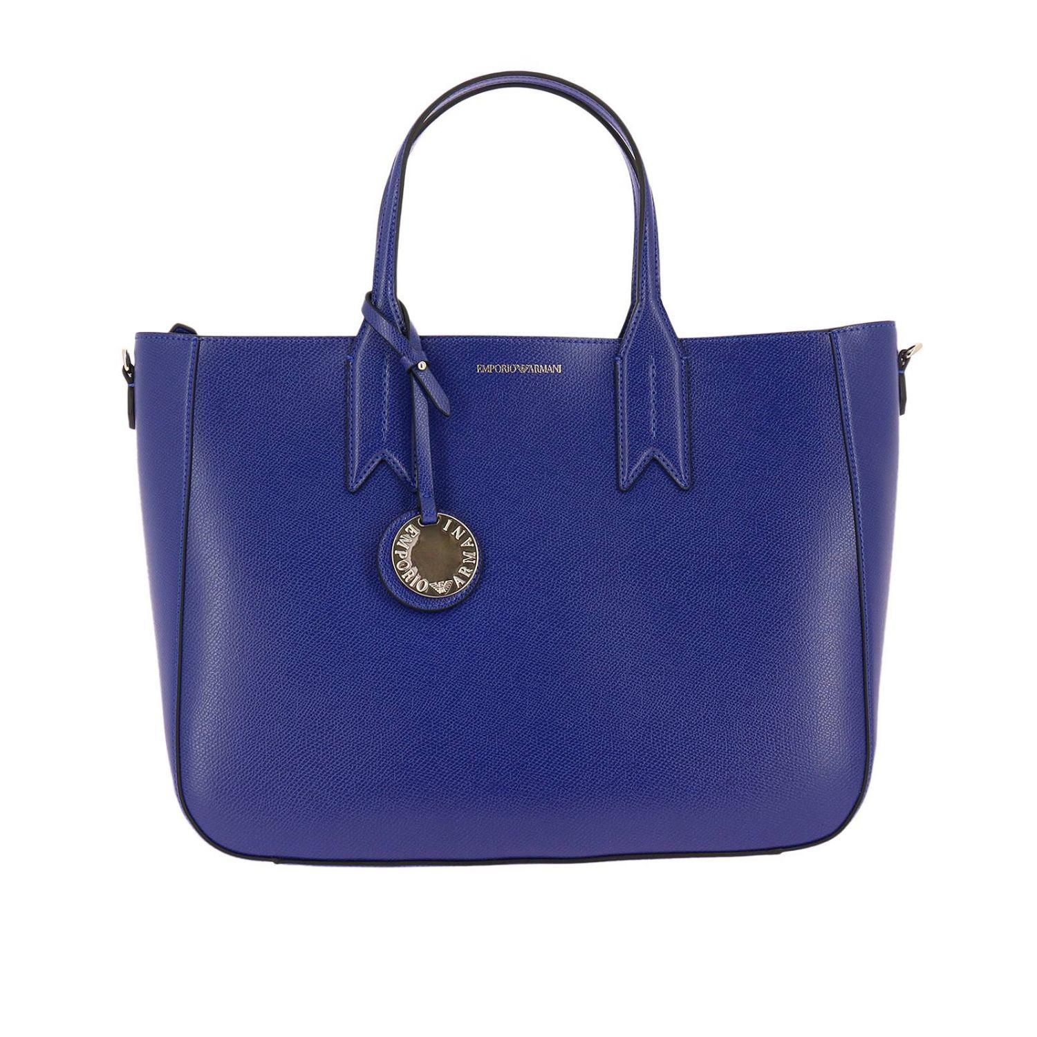 Lyst - Emporio Armani Handbag Shoulder Bag Women in Blue f1334294c6048