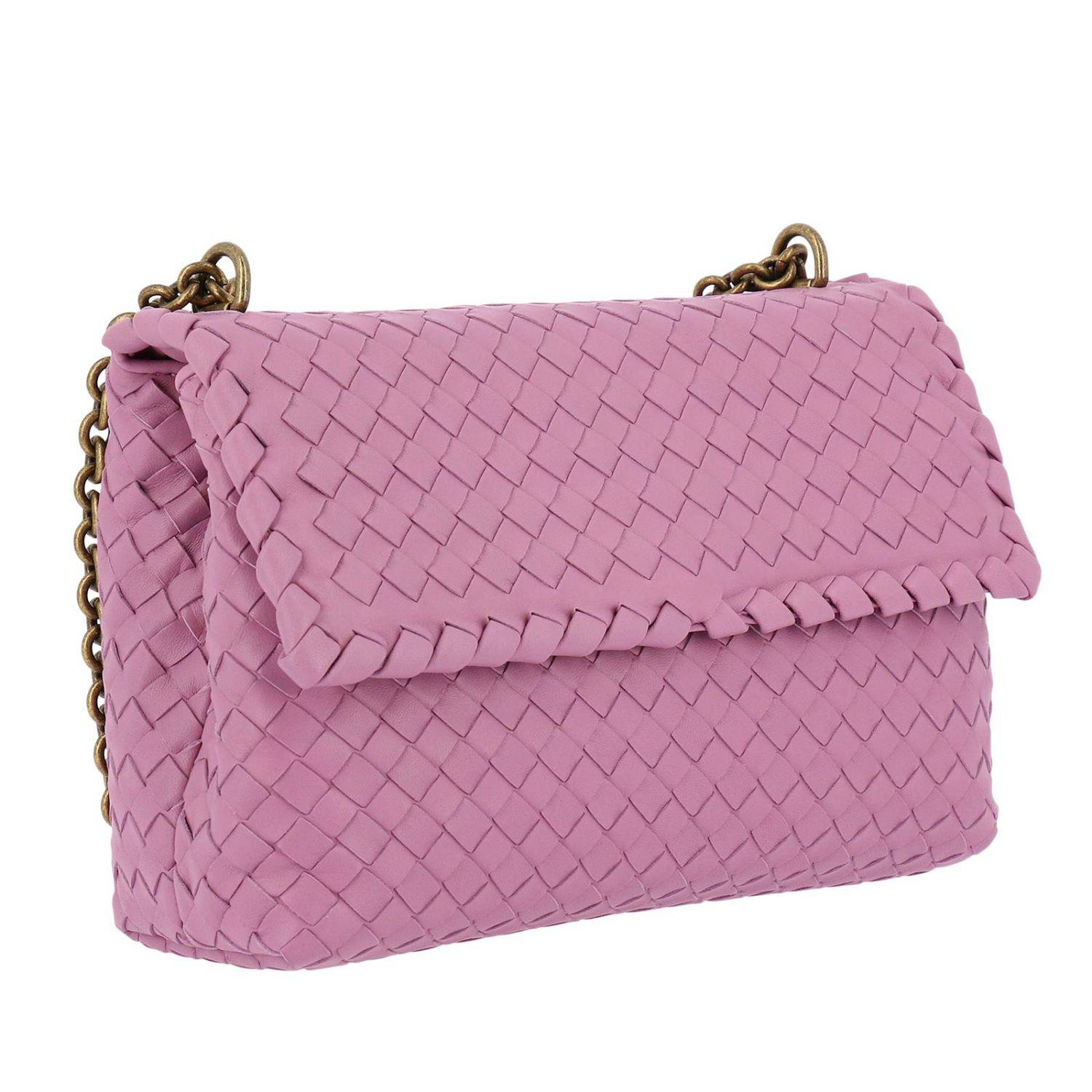 aec1a8974448 Bottega Veneta - Purple Crossbody Bag Olimpia Small With Sliding Chain  Shoulder Strap And Woven Pattern. View fullscreen