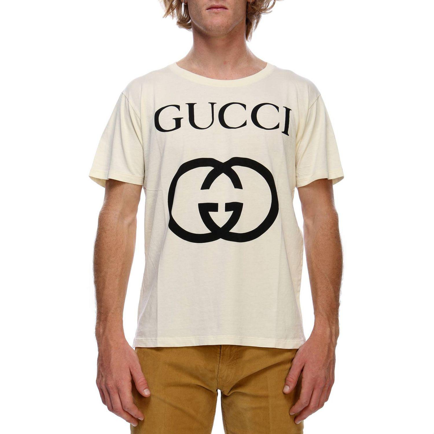 97bb8238 Gucci T-shirt Men in White for Men - Lyst