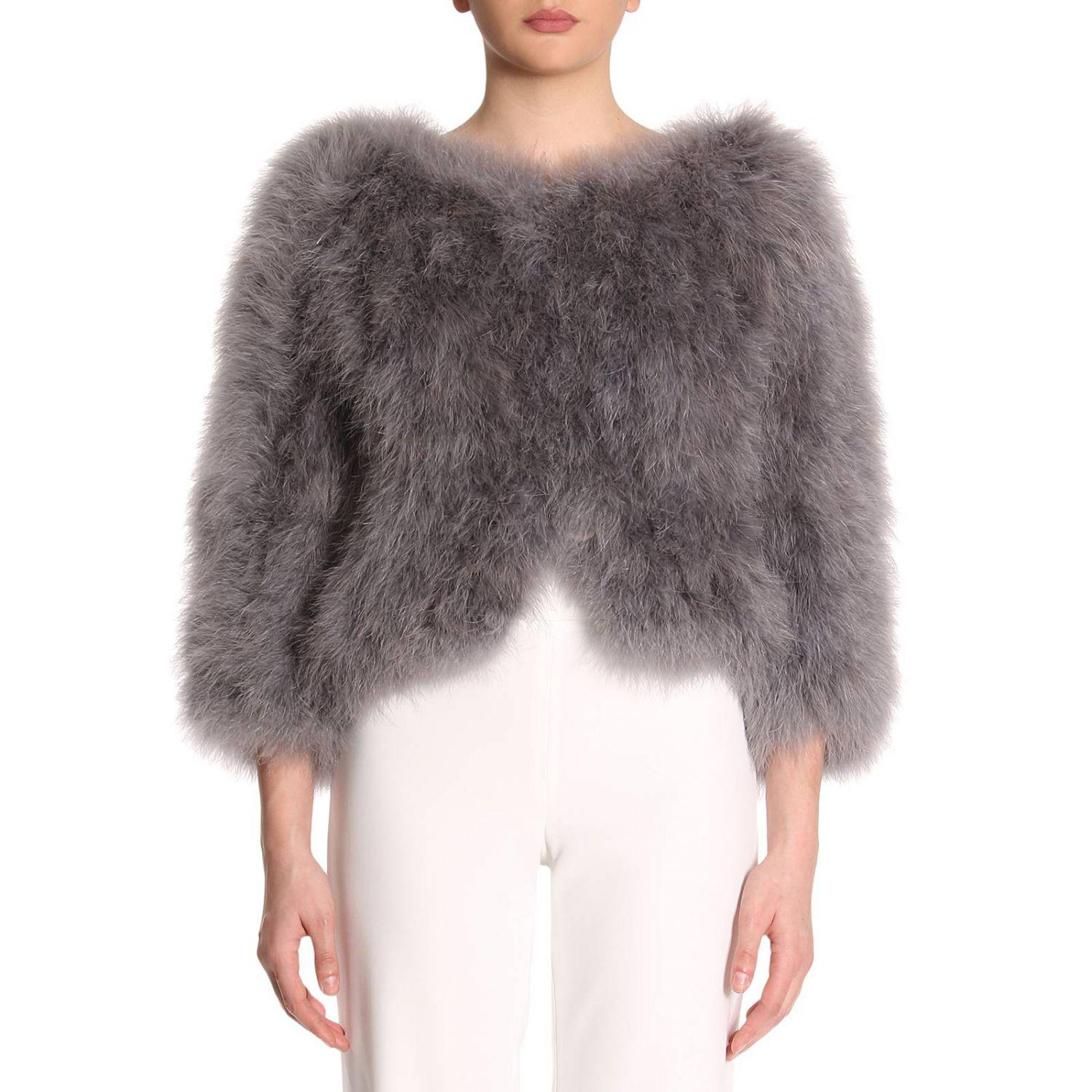 8fef398b737c8d Lyst - Prada Fur Coats Women in Gray