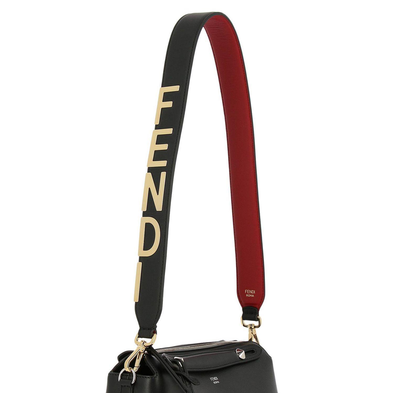 6c3ec79e62b8 Fendi - Black Maxi Strap You Shoulder Bag In Genuine Leather Century With  Metallic Logo -. View fullscreen