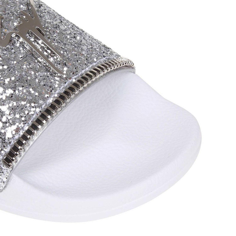 96bcfb696 Giuseppe Zanotti - Metallic Glitter Logo Slides - Lyst. View fullscreen