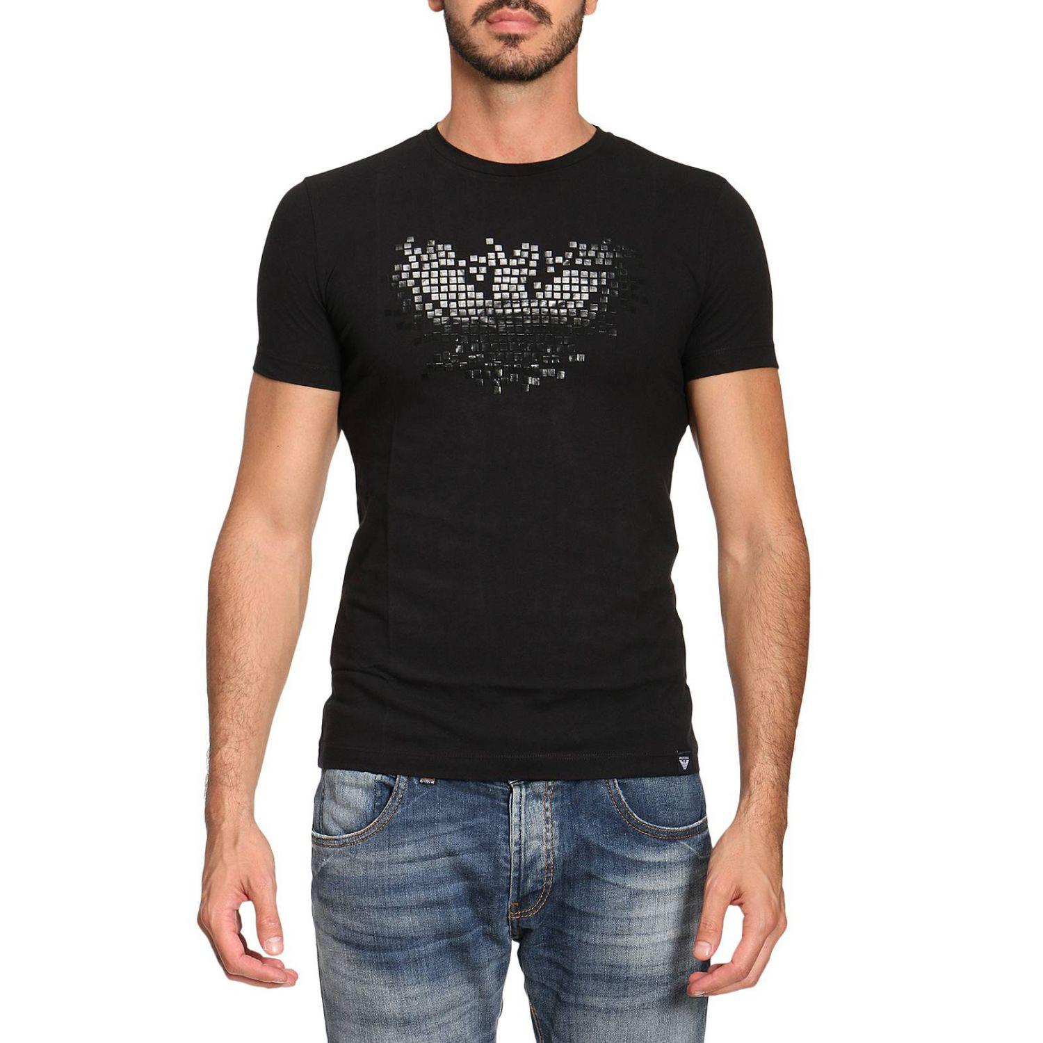 Rolf S Nyc Lyst Armani Jeans T Shirt Men In Black For Men