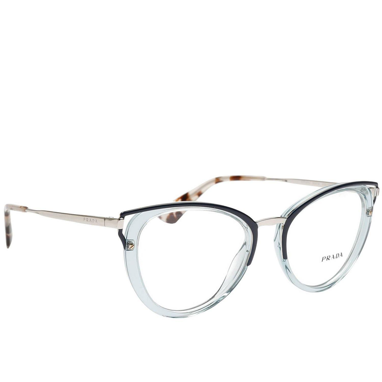 bdeebe486af Prada - Blue Glasses Women - Lyst. View fullscreen