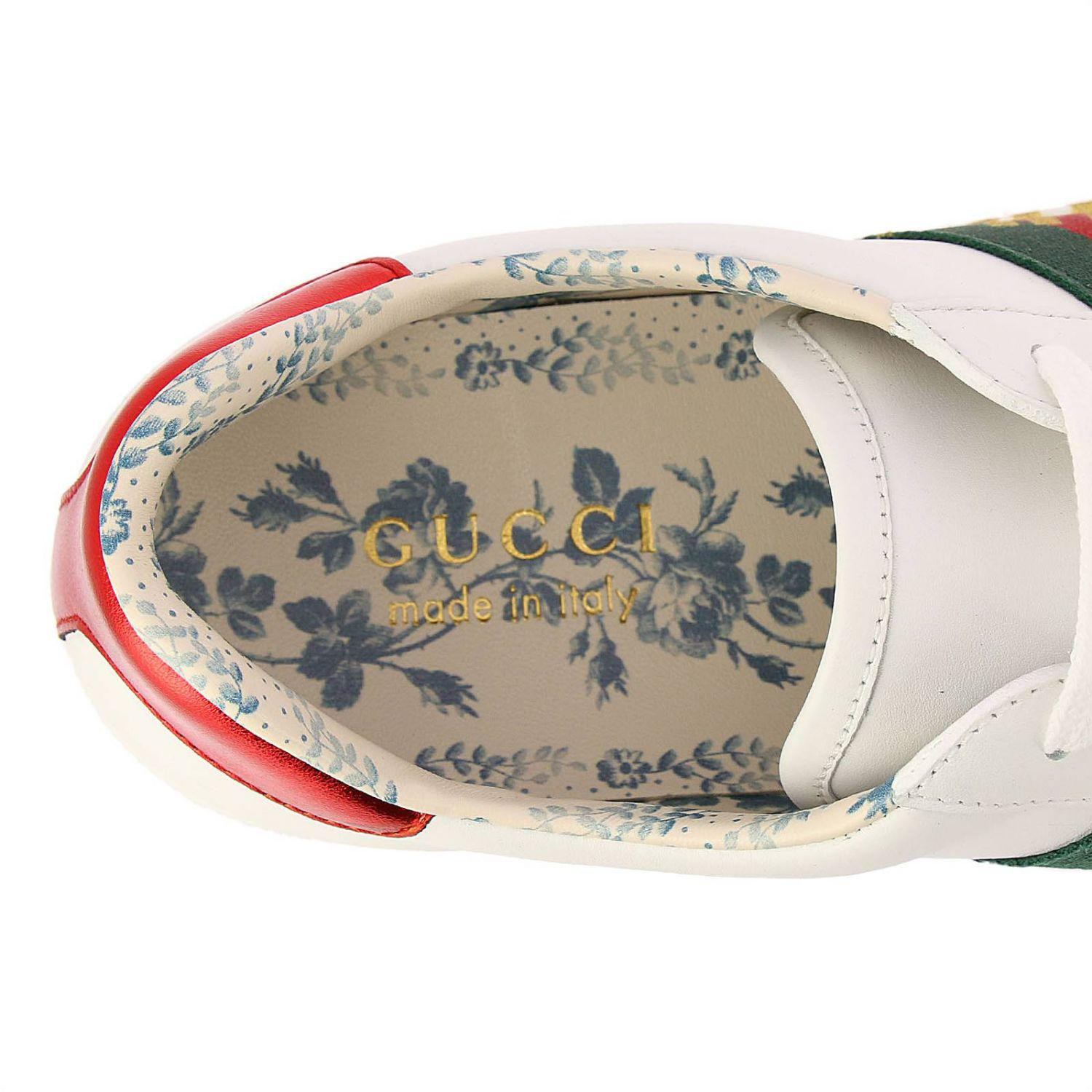 4b32754ad95 Lyst - Gucci New Ace Sneakers In Soft Genuine Leather With Web Bands ...