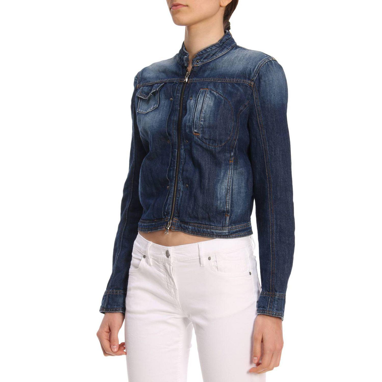 10d8a1f1349 Lyst - Emporio Armani Jacket Women in Blue