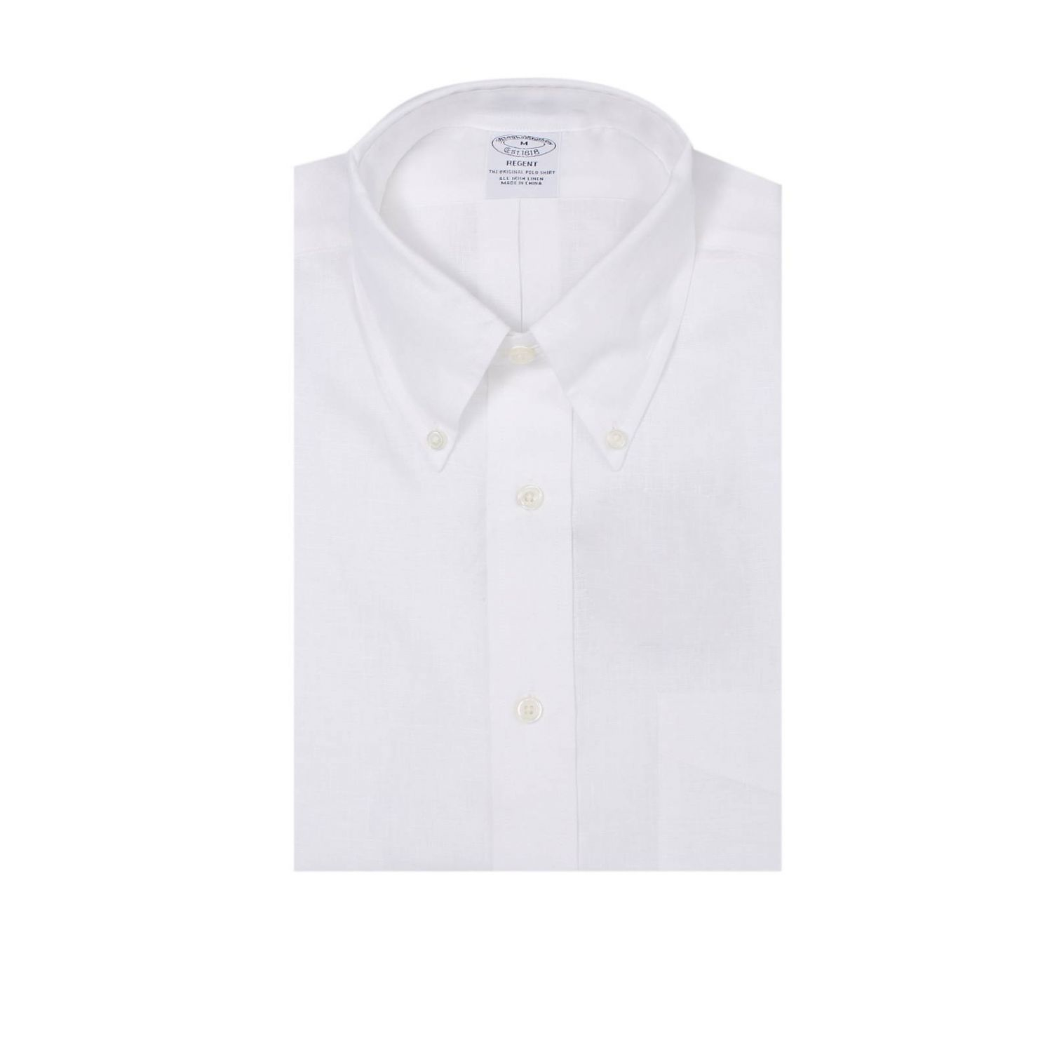 Brooks brothers shirt man in white for men lyst for Brooks brothers custom shirt