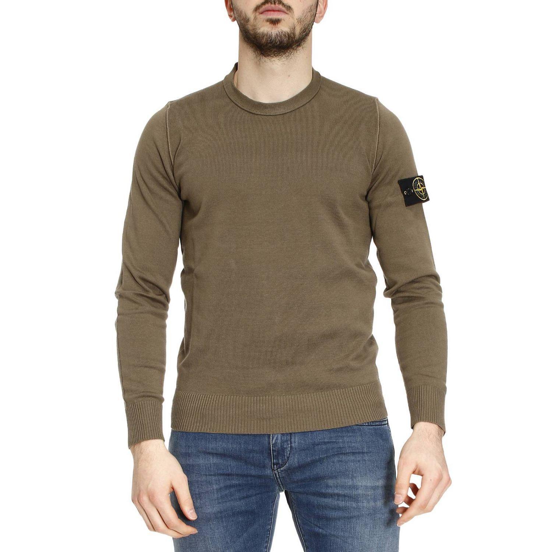 stone island sweater men in gray for men lyst. Black Bedroom Furniture Sets. Home Design Ideas