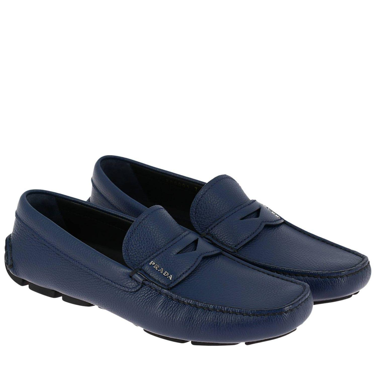 e91ded112b6f ... germany prada blue loafers shoes men for men lyst. view fullscreen  6ab7f b08a4