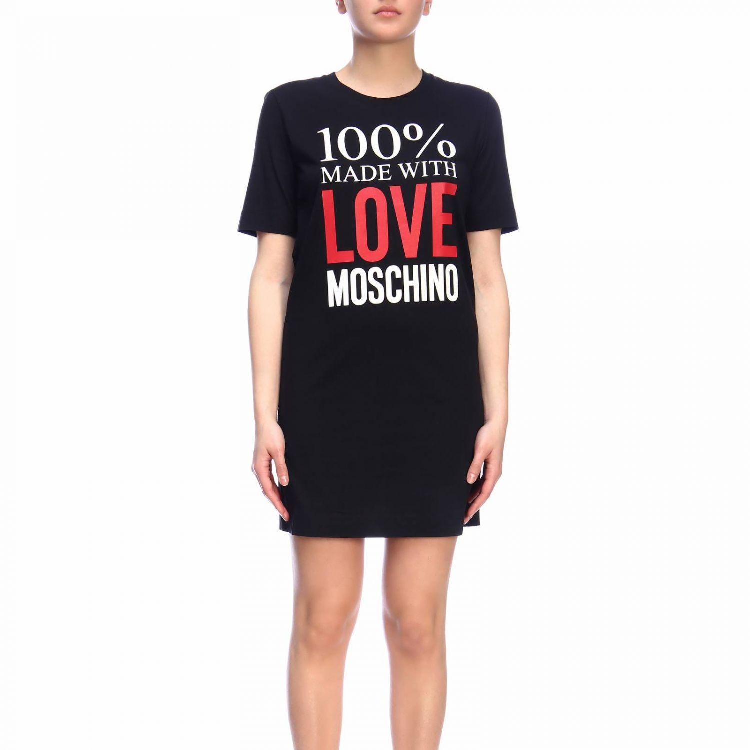 5a1cc5ae0ee Love Moschino Dress Women in Black - Lyst