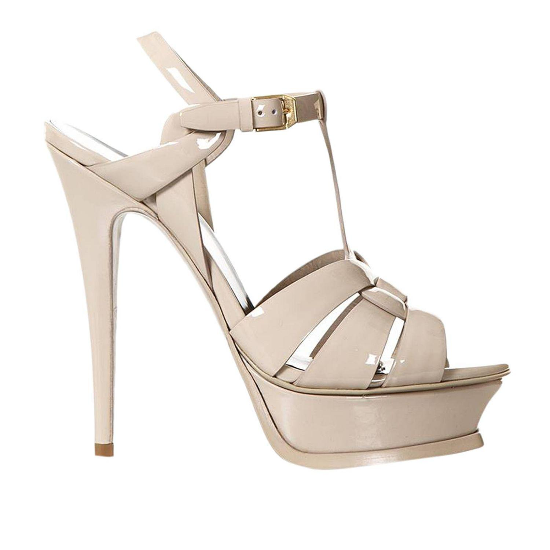 d82efe095e2a Lyst - Saint Laurent Ysl Tribute Sandal Classic In Patent Leather ...