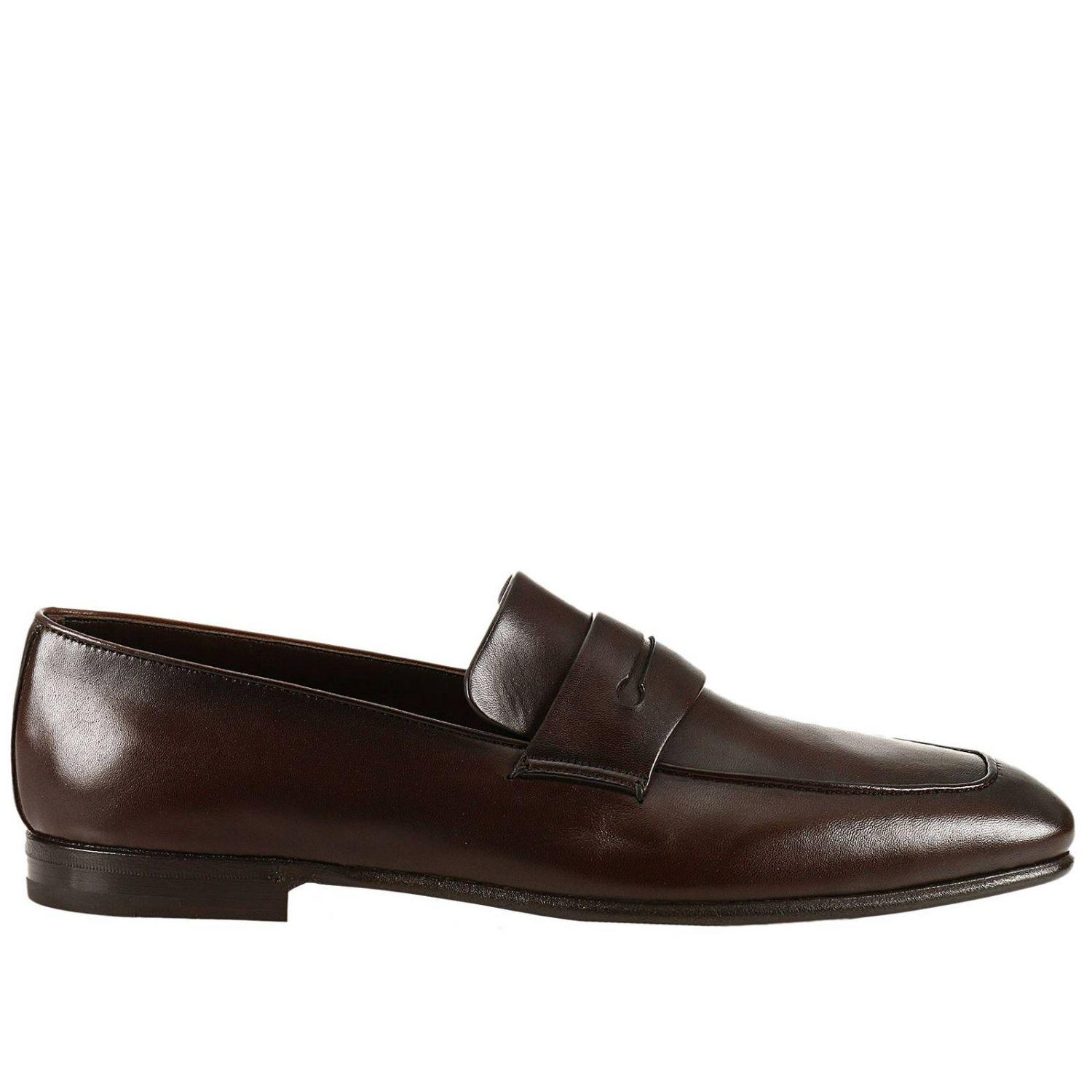 Asola Leather-trimmed Suede Penny Loafers - BlueErmenegildo Zegna