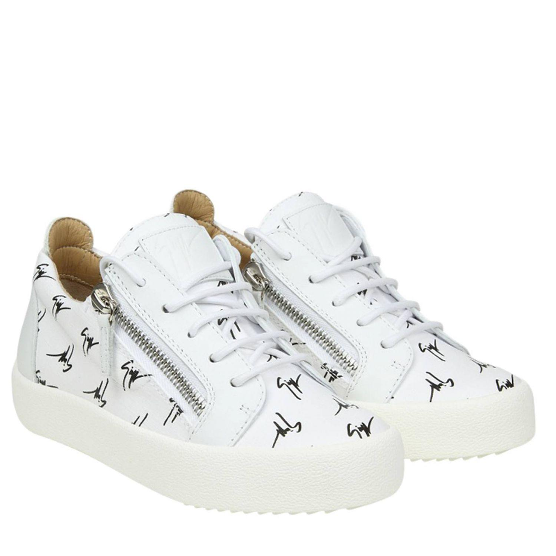 Best Supplier Buy Cheap Footlocker Finishline Giuseppe Zanotti Sneaker MAY Glattleder Metallisch silber wei? TwSaMMBYc