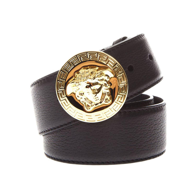 65b59bee1ef Versace Belt Men in Black for Men - Lyst