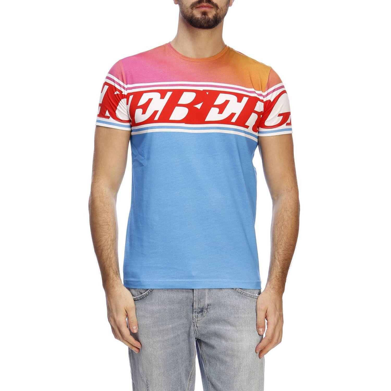 cb146c03772 Lyst - Iceberg T-shirt Men in Blue for Men