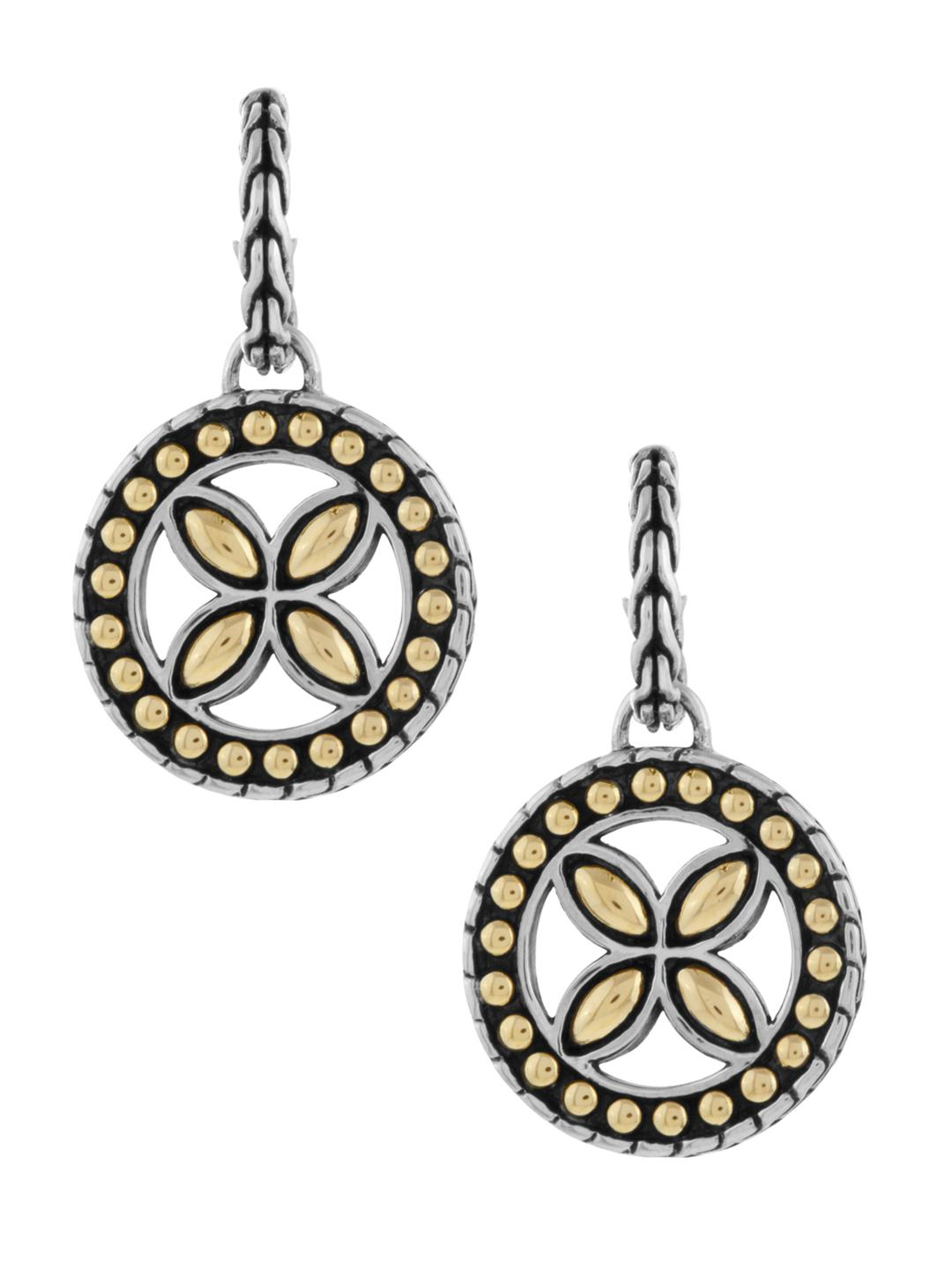 John Hardy Kawung Round Hoop Drop Earrings 4Solk