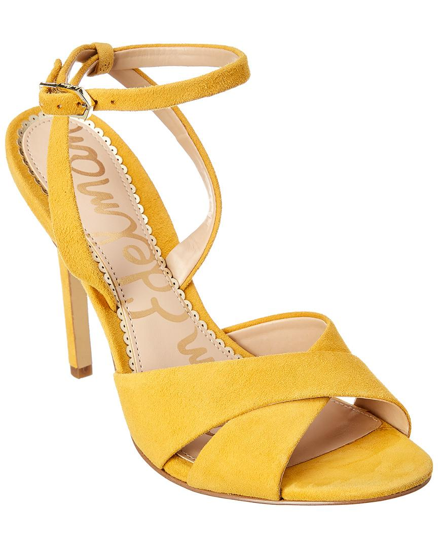 57503e08d026 Lyst - Sam Edelman Aly Suede Sandal in Yellow
