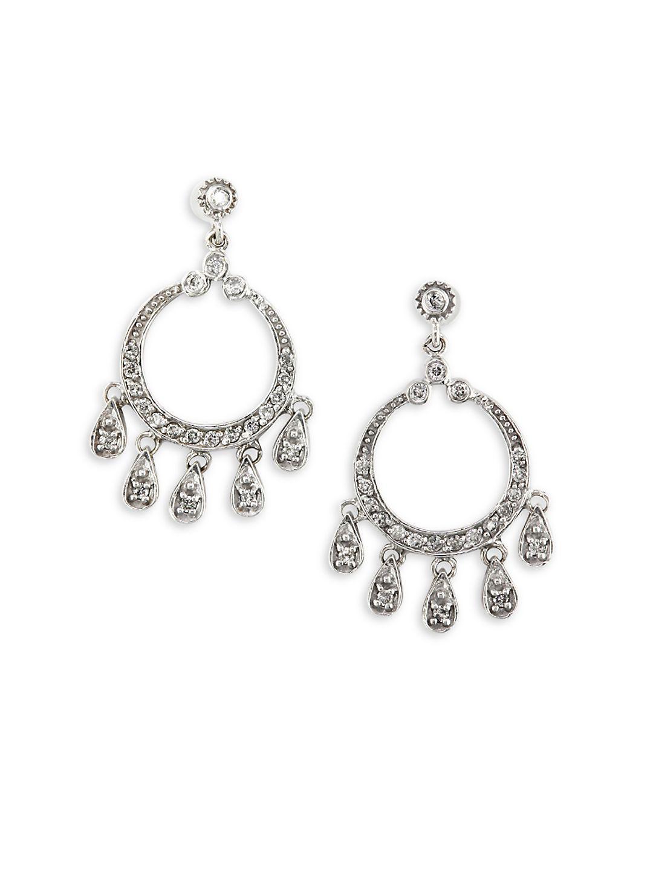 Lyst effy 045 tcw diamond 14k white gold chandelier drop view fullscreen arubaitofo Images