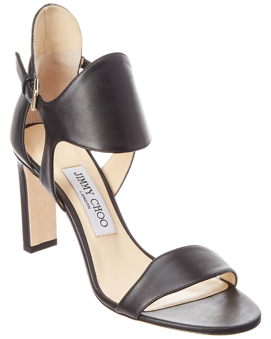b89315d7239 Lyst - Jimmy Choo Molly 65 Leather Sandal in Black - Save 37%