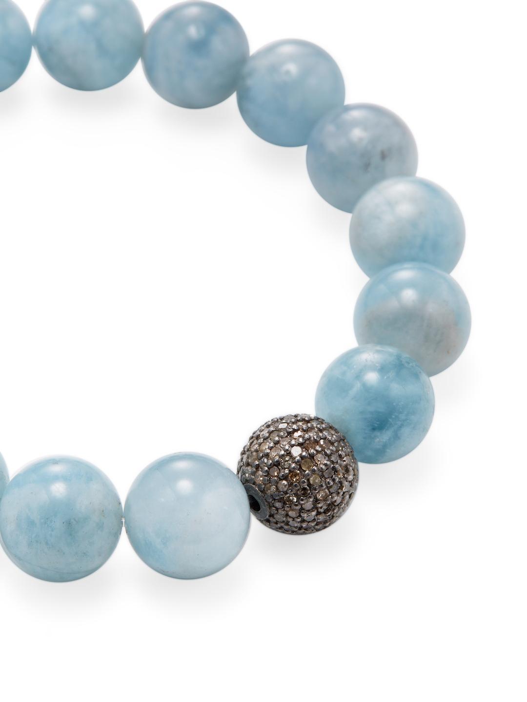 Bavna Diamond & Aquamarine Station Bracelet t1FRTjiL