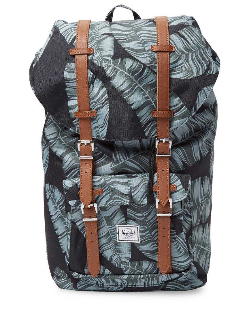 Lyst - Herschel Supply Co. Supply Banana Leaf Print Backpack in Black fa3573fa06