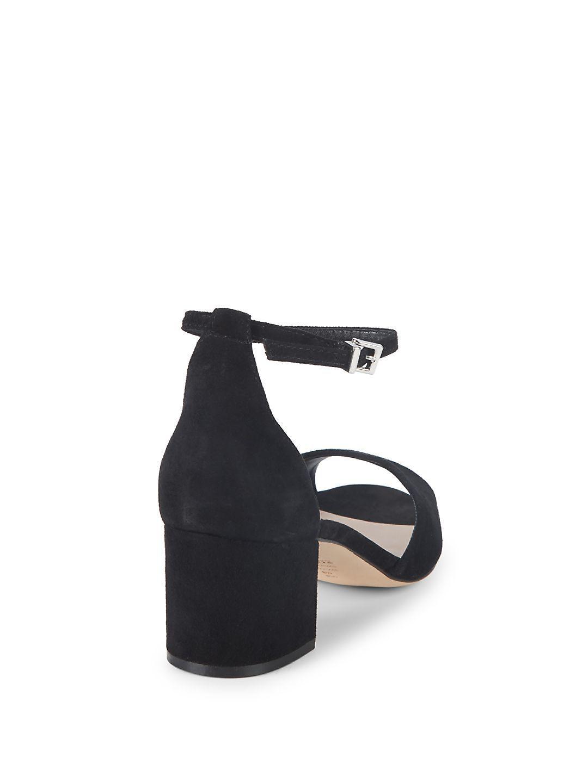 24c4ddd0917 Schutz Roama Suede Ankle-strap Sandals in Black - Lyst