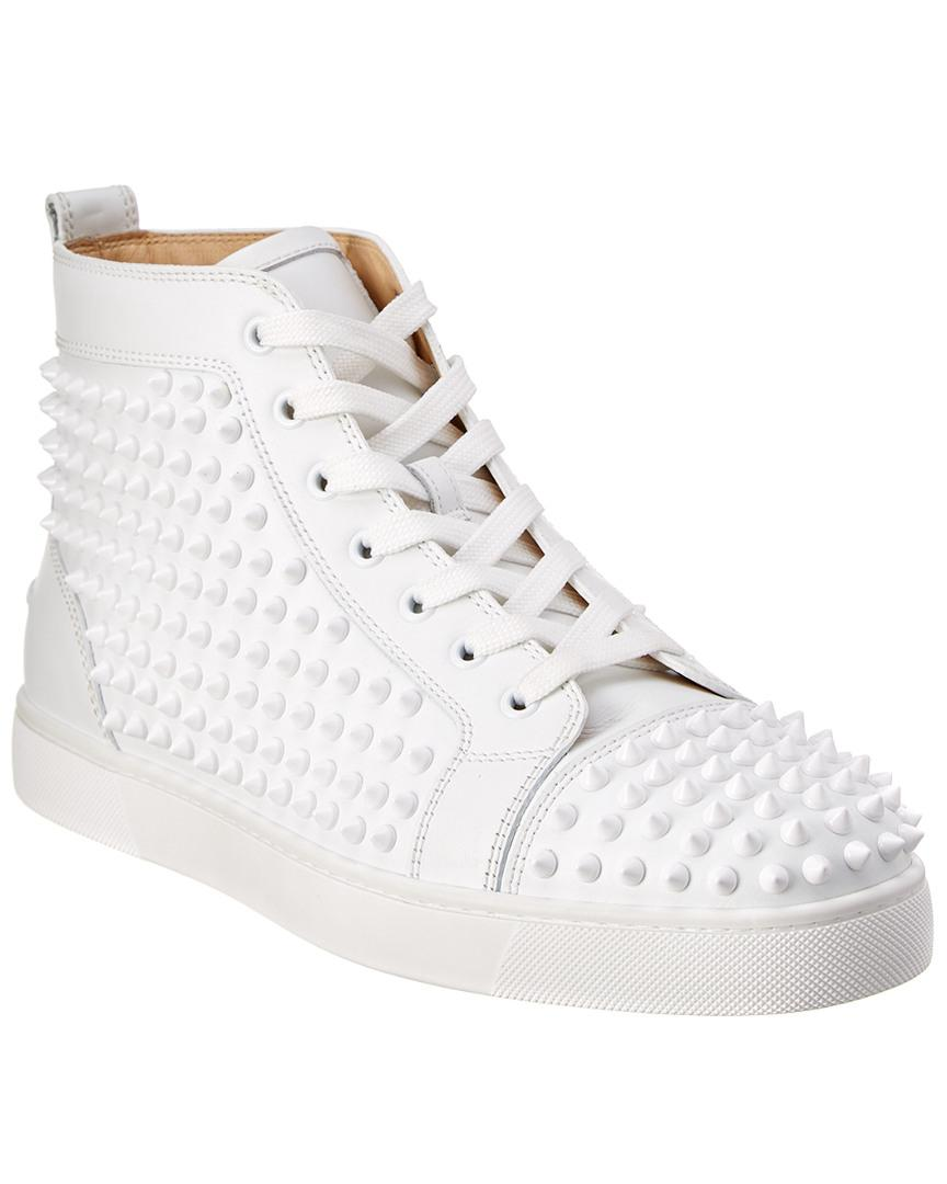 856258efbe6 Christian Louboutin Louis Spiked Leather Sneakrs in White for Men ...