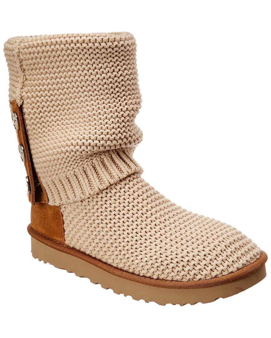 62b19ddb92f Ugg Brown Purl Cardi Knit Boot