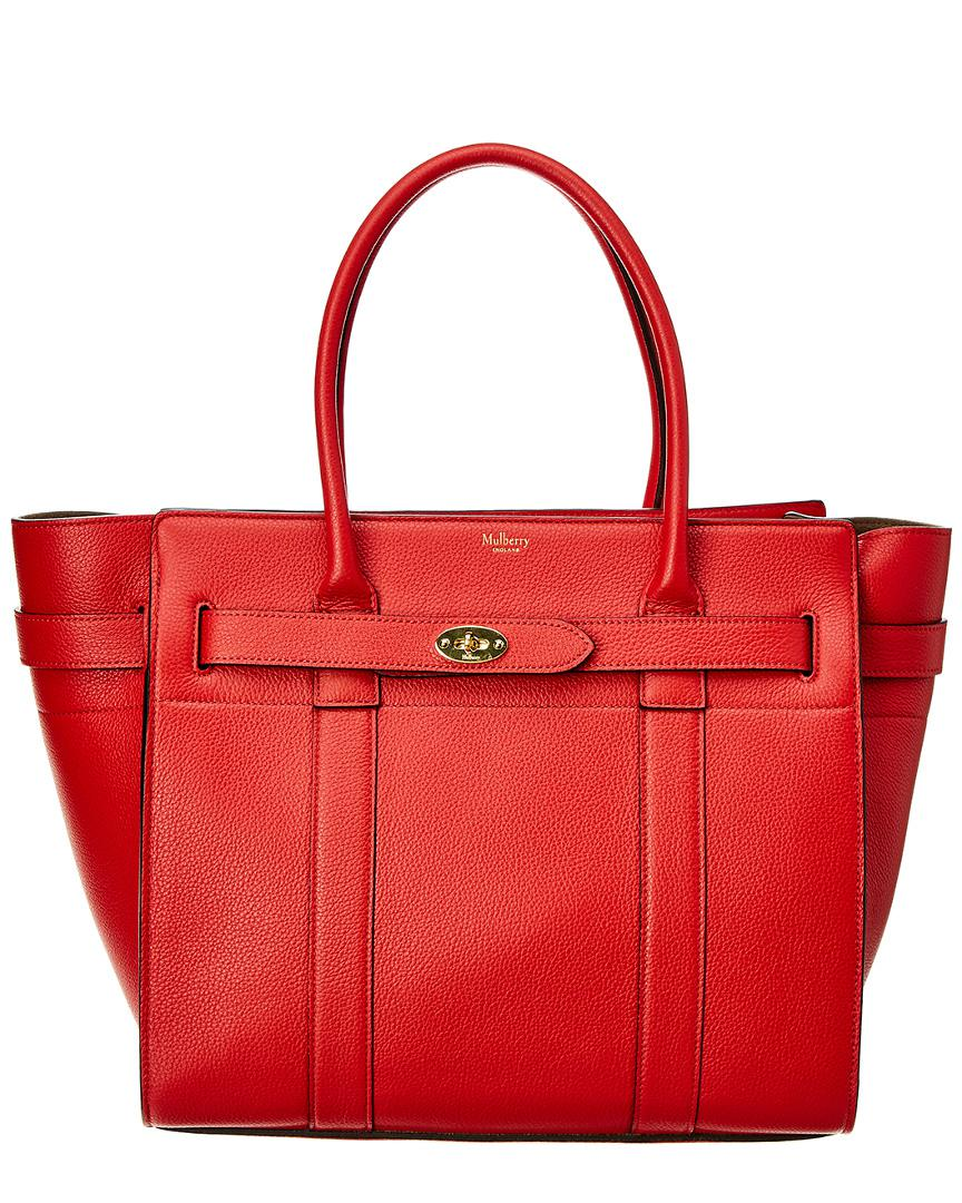b90895faa611 Mulberry - Red Bayswater Small Classic Leather Tote - Lyst. View fullscreen