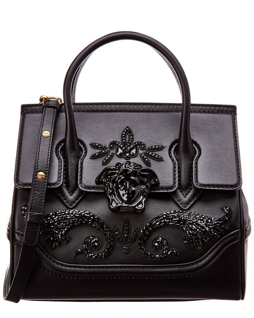 Versace Palazzo Empire Medium Leather Satchel in Black - Save ... 92c04a4ec35a0