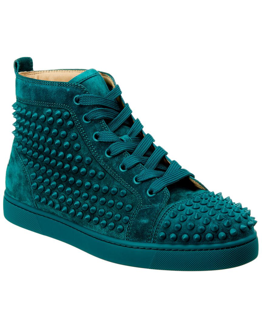 991278b30c3e Christian Louboutin Louis Spikes Suede Sneaker in Blue for Men - Lyst