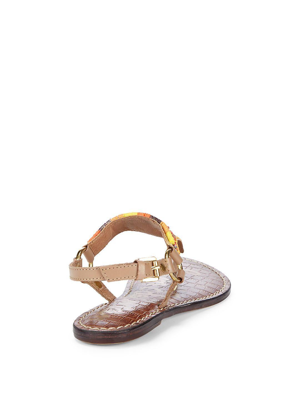 269863895db27b Lyst - Sam Edelman Greta Beaded Thong Sandals