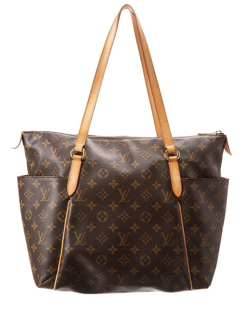 d0b24d296275 Lyst - Louis Vuitton Monogram Canvas Totally Mm in Brown