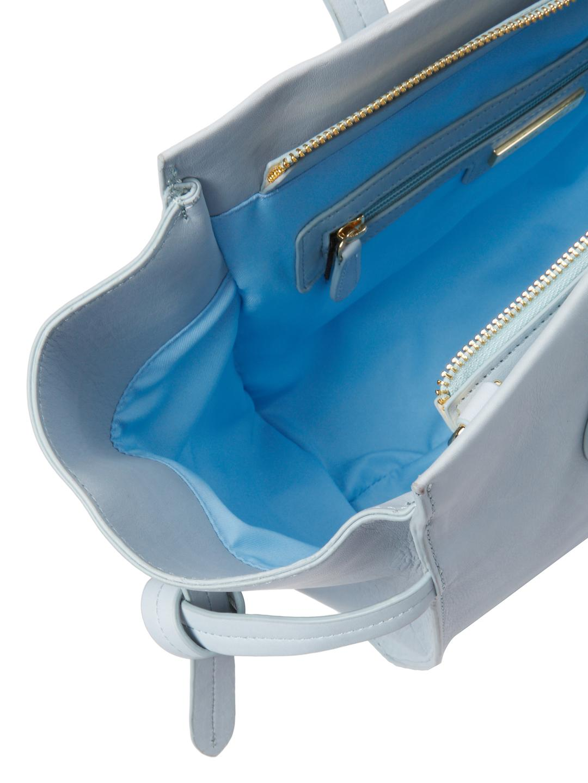 8c04615fdd1c Lyst - Cynthia Rowley Miranda Tie Leather Tote in Blue