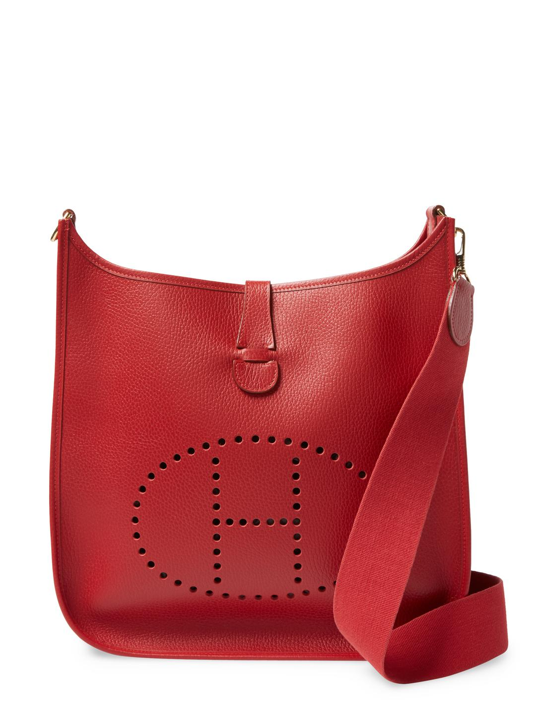 6f70fafb9a26 ... new zealand hermès. womens vintage hermes red ardns evelyne gm a8c20  3f2d1
