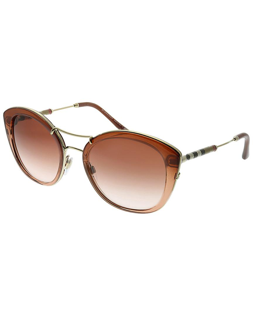 8b2b9a14053c Lyst - Burberry Women s Round 53mm Sunglasses in Brown - Save 1%